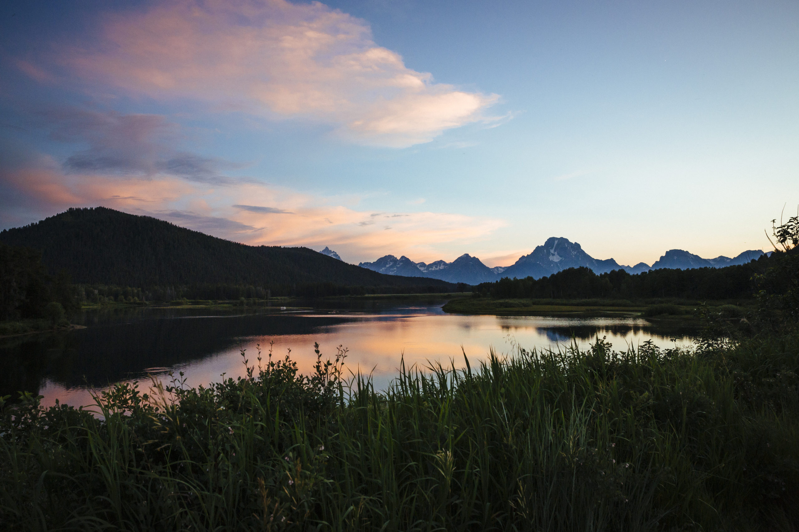 Sunset in Grand Teton National Park, Wyoming
