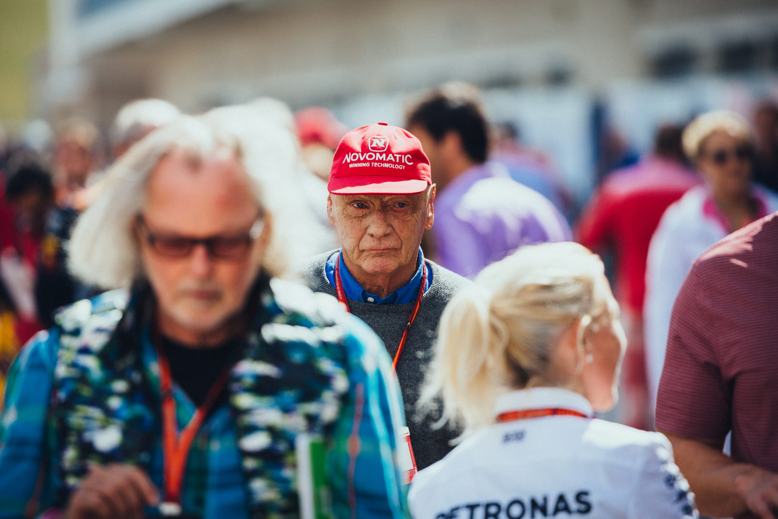 Nikki Lauda at the 2017 Formula 1 United States Grand Prix