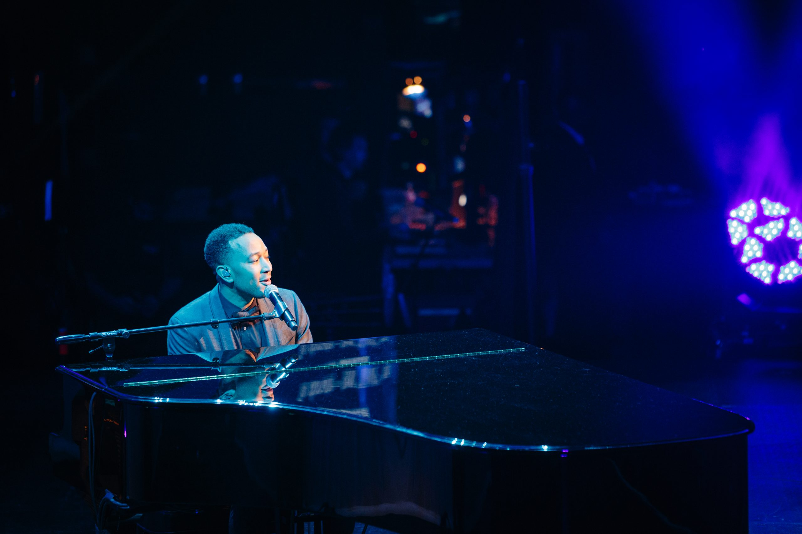 John Legend performing at the 2017 Andy Roddick Foundation Gala at ACL Live
