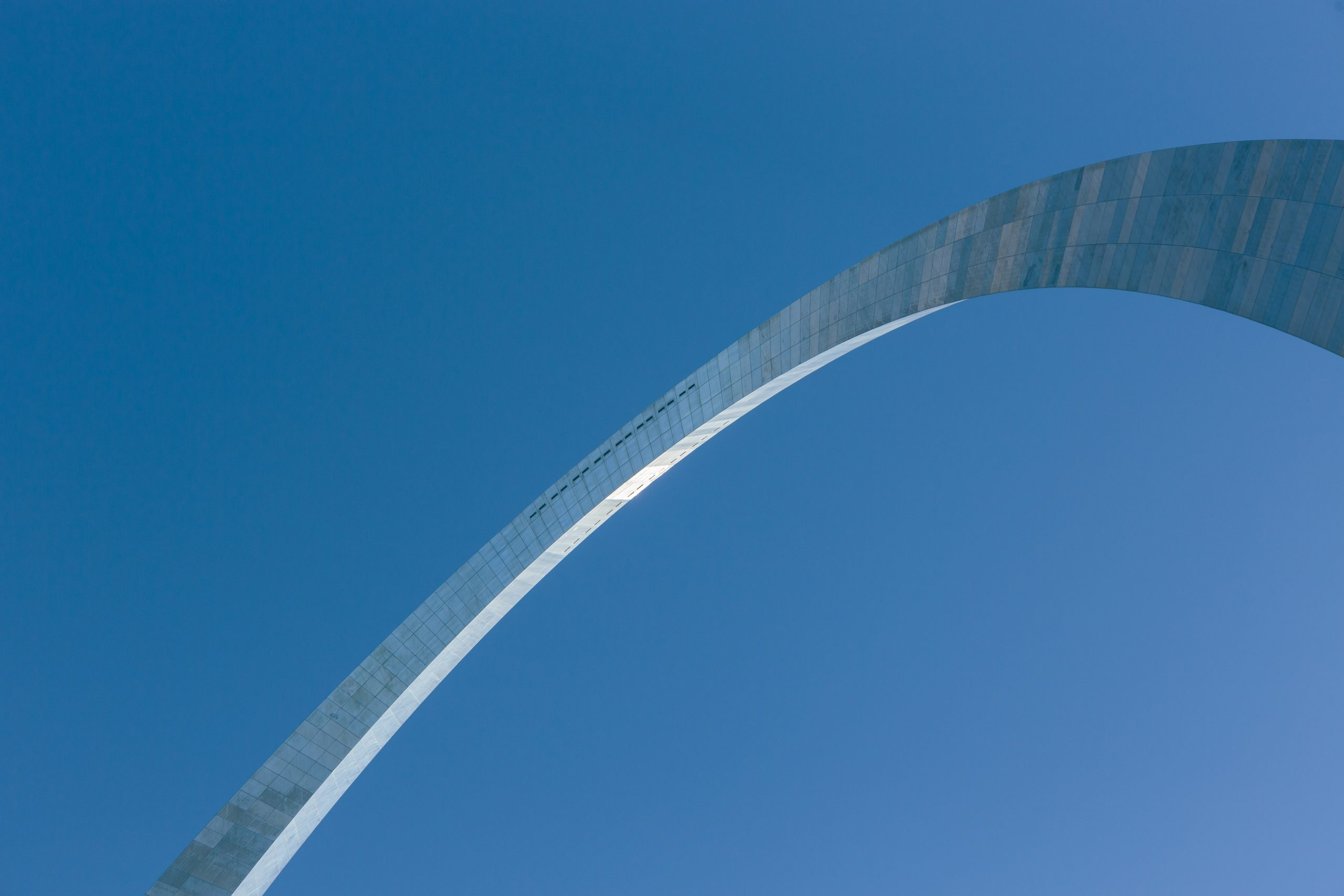 A somewhat abstract view of the Gateway Arch in St. Louis, Missouri